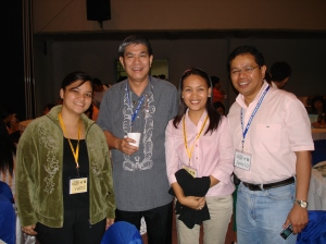 a journalist and a broadcaster (with rudy fernandez and angelo palmones)