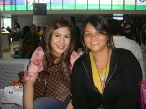 w/ valerie at NAIA T2