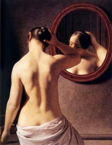 Christoffer-Wilhelm-Eckersberg-XX-Woman-Standing-In-Front-Of-A-Mirror-1841-XX-Private-collection