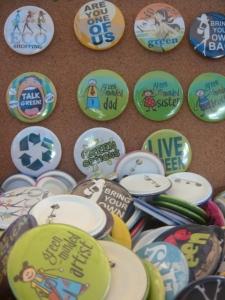 eco-friendly bag pins