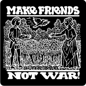 Make Friends Not War Sticker (5164)