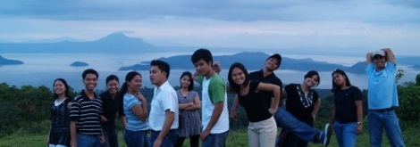 overlooking taal lake, tagaytay city